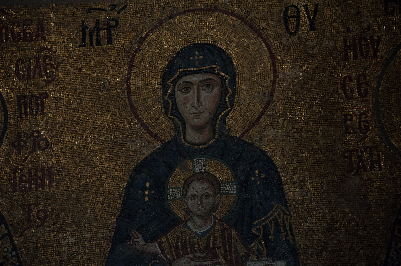 One ugly Christ baby.  Yes yes, the mosaics are very well done.