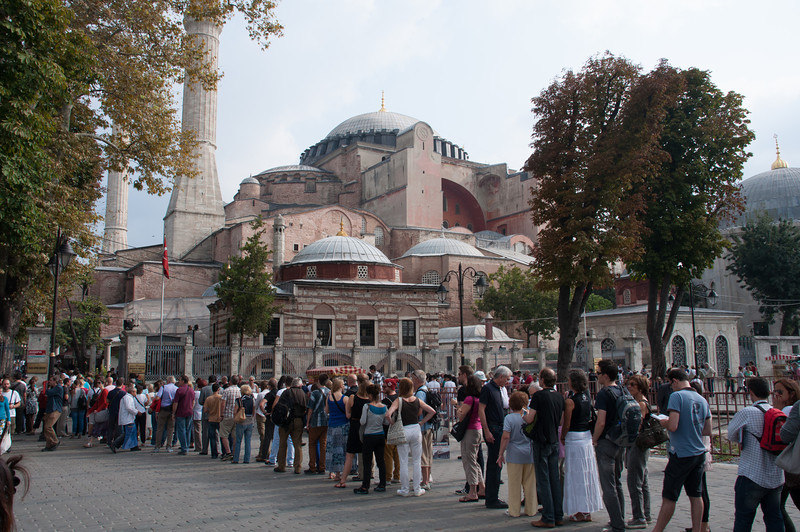 The line to get into the Hagga Sofia. Didn't include me.