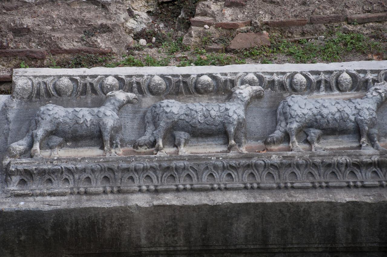 Byzantine detail of the Hagga Sofia.