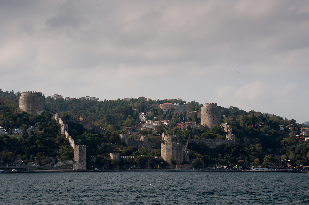 In 1453, Constantinople, capital of Byzantium, the eastern capital of the old Roman Empire, was a sad and run down little backwater. Looking at this fortress, I imagine the concern of the residents of Constantinople, knowing that such an imposing structure is under construction an hour's ride north of the City gates.