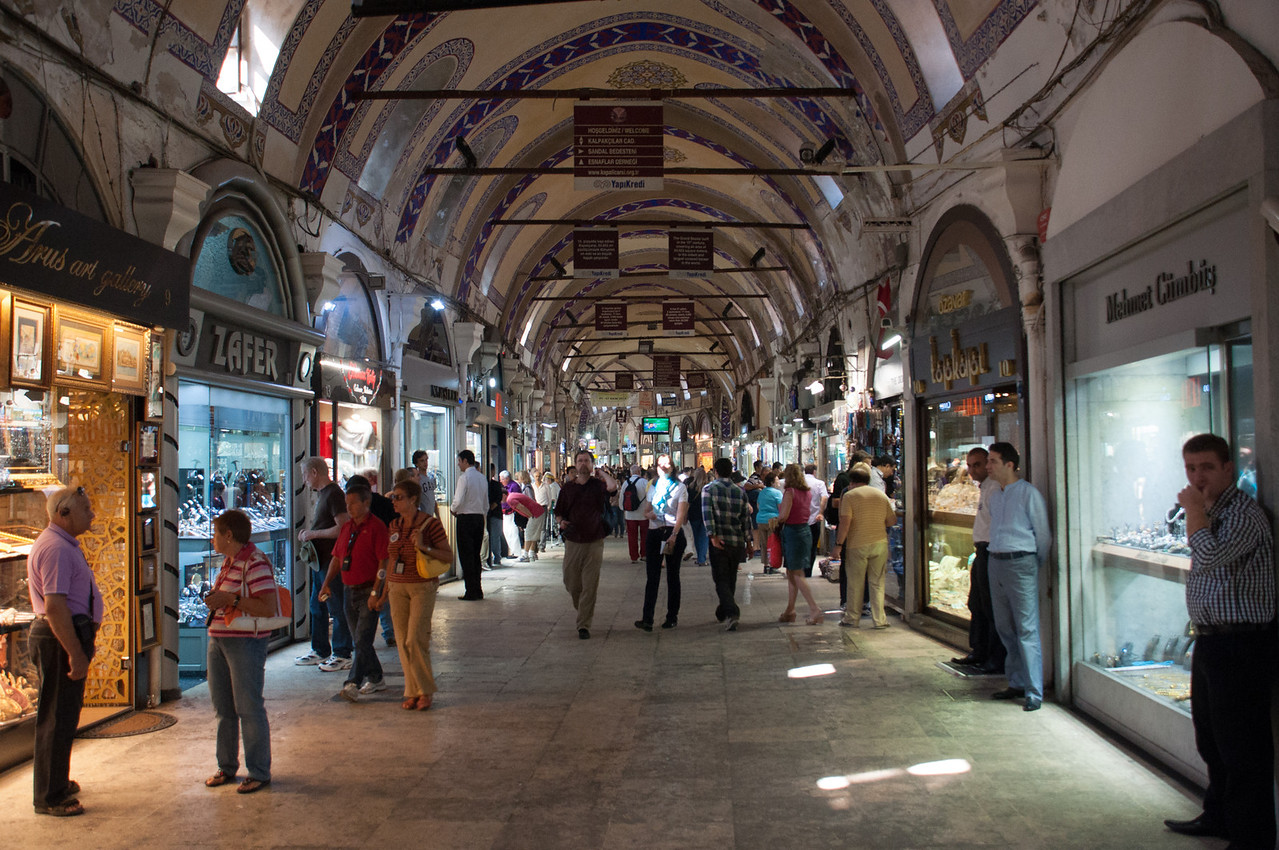 The construction of this vast shopping mall began in 1455, only two years after the  Turks kicked in the gates of Constantinople. Must get shopping!