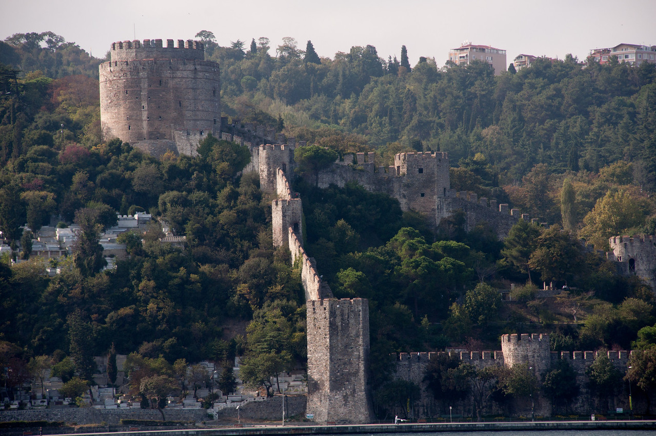 The Fortress of Europe. Great name, yeah? Built in the 1450's by Mehmet the Conqueror, at the narrowest point of the Bosphorus, in preparation for storming the gates of Constantinople.