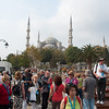 Istanbul is a very crowded city.  In this area most are tourists.