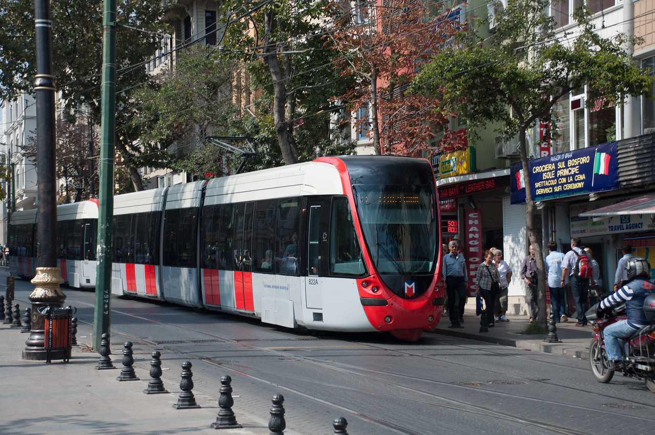 Tram system is brand new since 2010, I am told. Air conditioned and works very well.