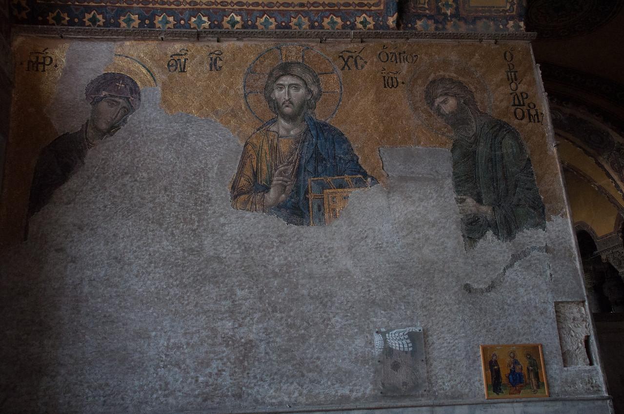 Byzantine Mosaics inside the Hagga Sofia.