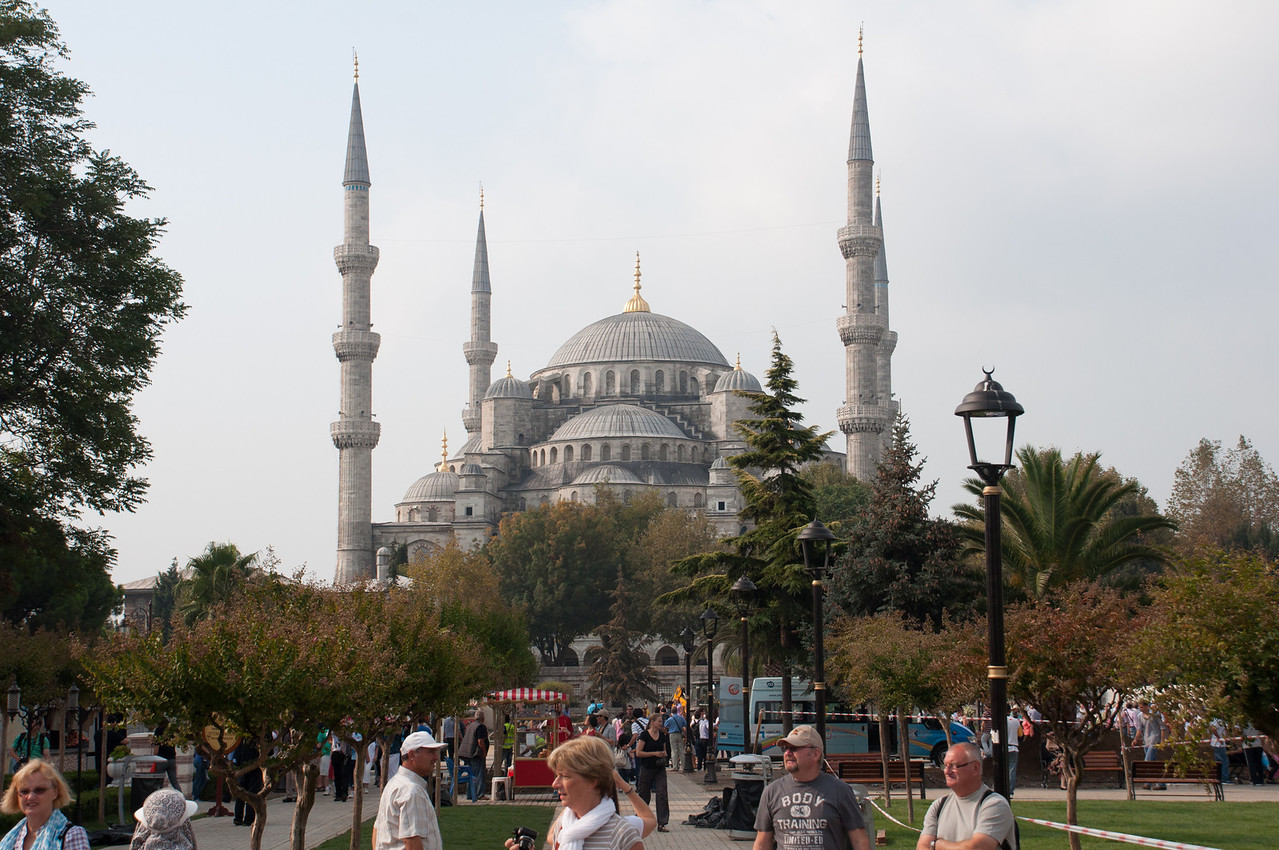 Blue Mosque. Built between 1609 and 1619 by Sultan Ahmed the First.
