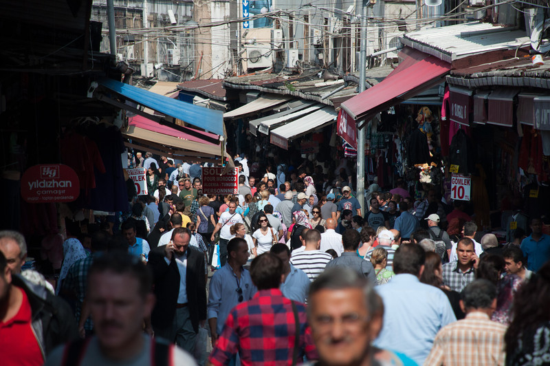 "13.5 million people live in Istanbul. You can tell. Here are two videos to get a sense of the scene:<br /> <br />  <a href=""http://youtu.be/VXKz7KGGwdI"">http://youtu.be/VXKz7KGGwdI</a><br /> <br />  <a href=""http://youtu.be/W5RRig4l3EE"">http://youtu.be/W5RRig4l3EE</a>"