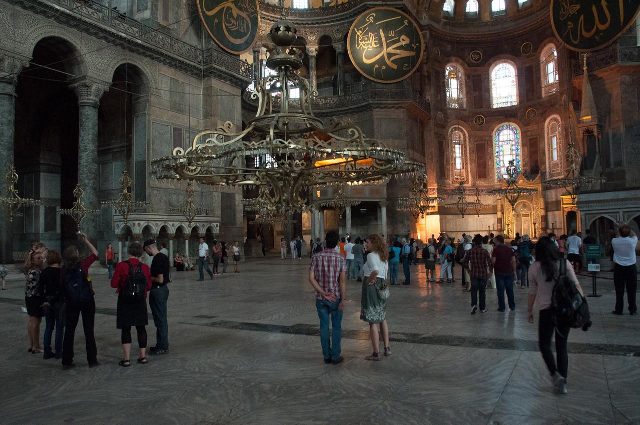Inside the Hagga Sofia.