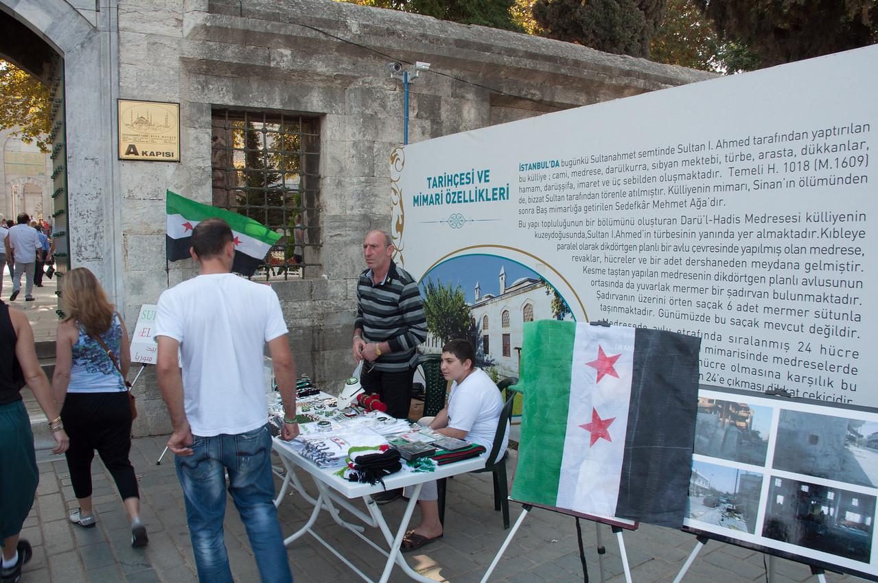 Protest involving Syrian war.