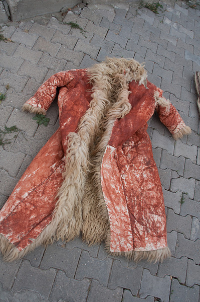 This was laying on the sidewalk, for sale. No peaking! This is someone's Christmas present.