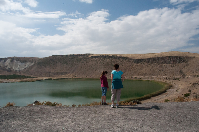 To our surprise the driver first stopped here. Only after we returned did I learn that his is on any list of the 10 largest volcanic Crater Lakes in the world.<br /> <br /> Strike that. Is not. Just a run of the mill Crater Lake.