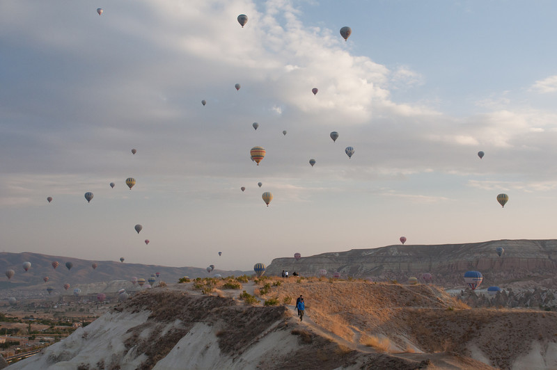 Chuck and I had planned to take a ride, but I was having trouble with my bank card and since nearly everything in Turkey is done in cash we didn't firm up the reservation. No matter, I think the better view was from the ground.