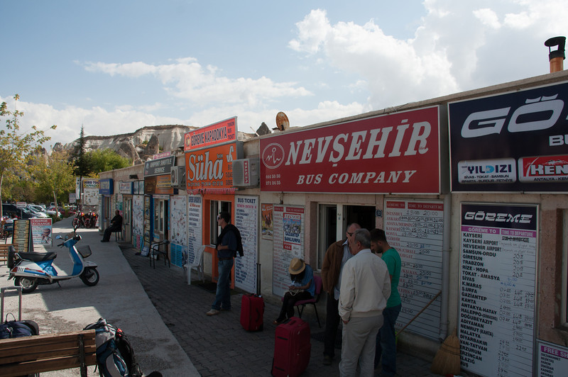 Purchasing bus tickets for Fethiya, our next destination.