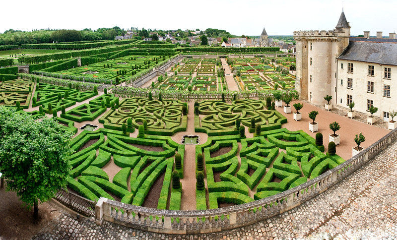 The gardens at Chateau Villandry