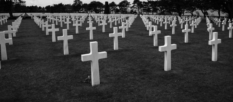 Normandy American Cemetery at Omaha Beach