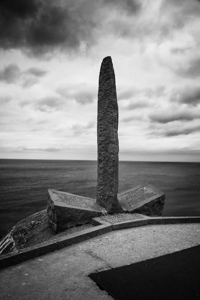 Monument to Rangers at Point du Hoc