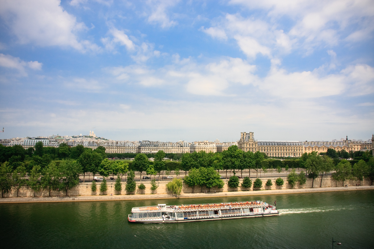 The Seine with Sacre Coeur on the hill