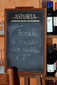 bresaola di cavallo - snack of thinly-sliced, air-dried horsemeat