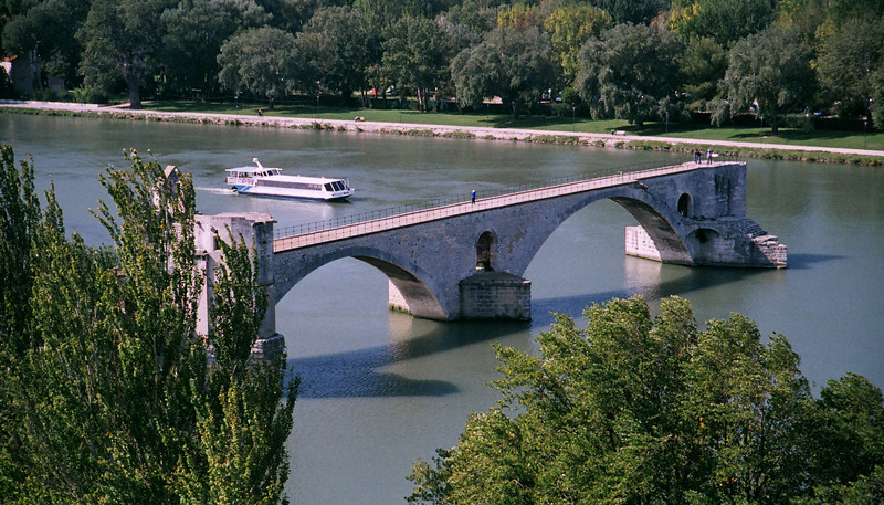 At Avignon... the bridge that once spanned the river.