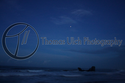 An impressionistic beach at night. El Tunco, El Salvador.