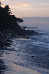 El Tunco at dawn. El Tunco, El Salvador.