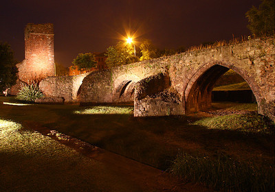 old Roman bridge, Exeter, England