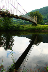 bridge reflection, Wales
