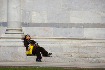 Nap time ... Having a small break on Pisa's Duomo....