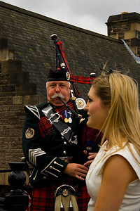 wedding piper, Edinburgh, Scotland