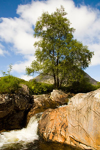 waterfall, Glencoe, Scotland