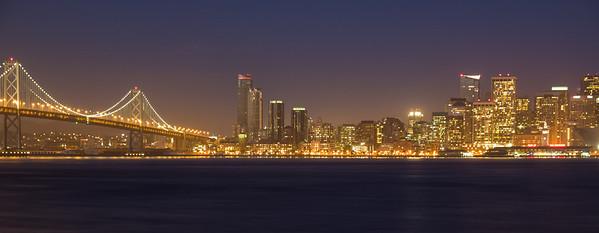 San Francisco and western span of the Bay Bridge