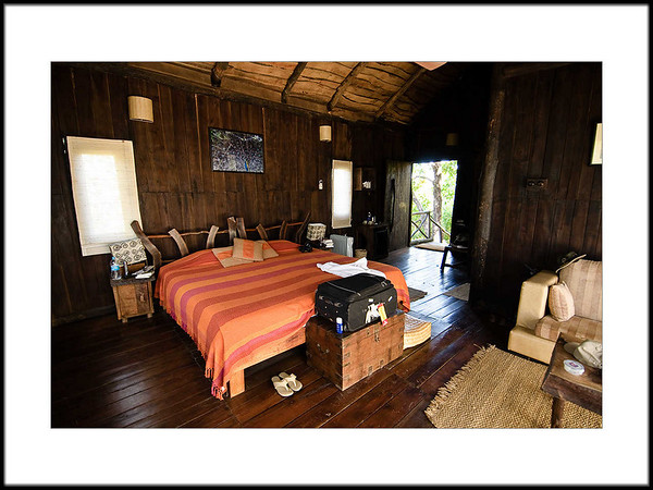 03: Bedroom | Treehouse Hideaway, Bandhavgarh 28 February 2010 NIKON D90; 12-24 mm f/4; Pattern; 1/40 sec at f/4.0; ISO-500;