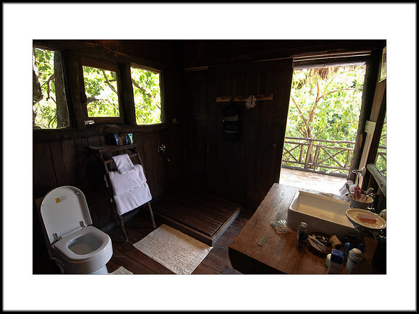 07: Bathroom with sliding door to the deck | Treehouse Hideaway, Bandhavgarh 28 February 2010 NIKON D90; 12-24 mm f/4; Pattern; 1/80 sec at f/4.0; ISO-500;