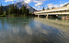 Sunday, looking across the river at Banff en route to our orientation session.