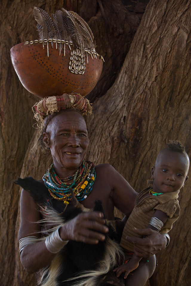 Nyangatom grandmother and child