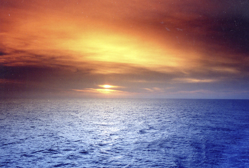 Sunset off the ship; Panama Cannal Cruise