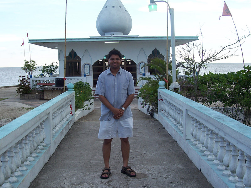 """Me in front of the """"Temple by the Sea"""""""