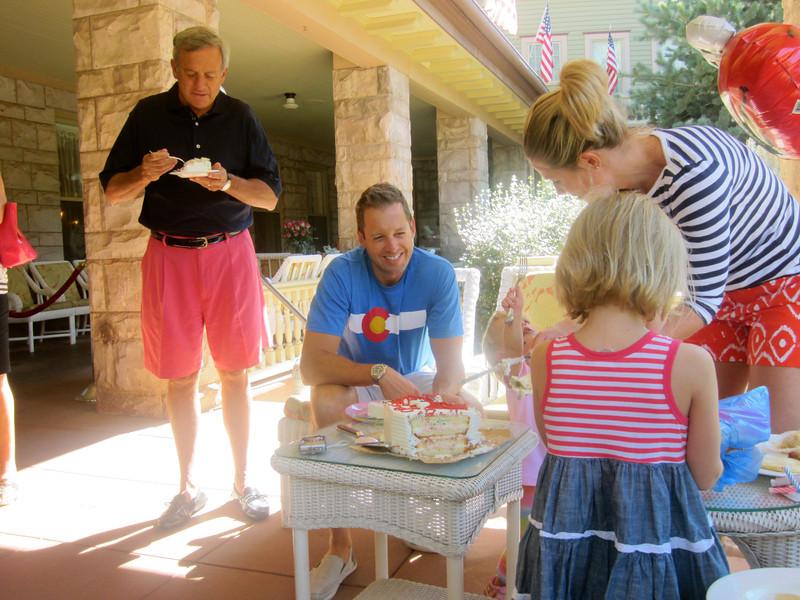 Uncle George, Brett, Stacy & Katie.