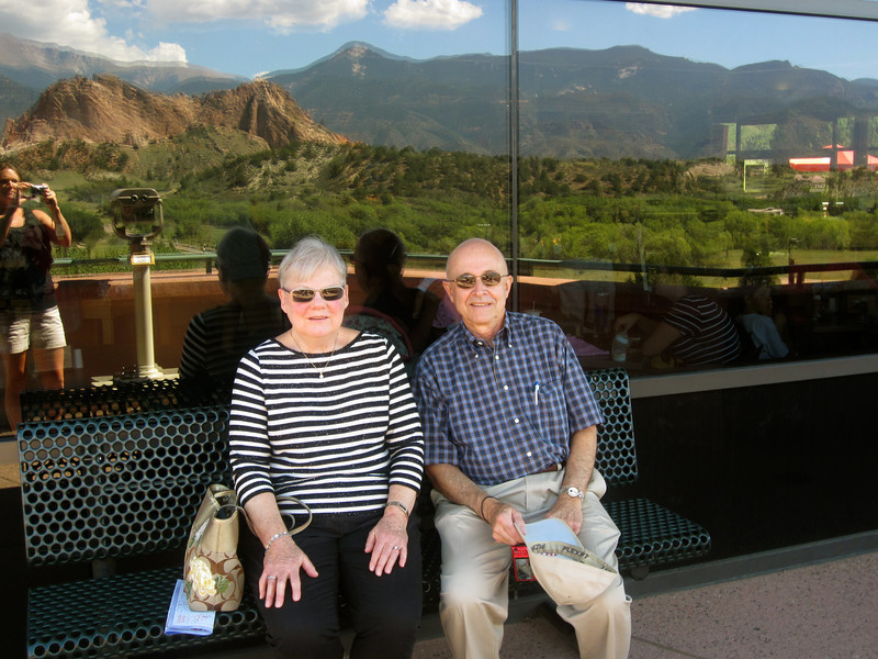 Mom and Dad at the Visitor's Center.