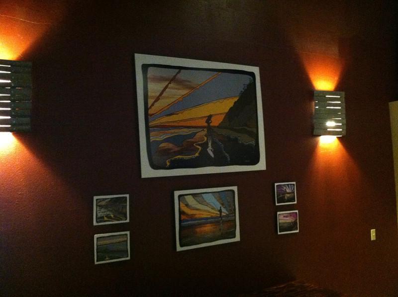 Carr Winery (Santa Ynez Warehouse) with David's art on the walls.