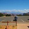 Parked at one of the many Canyonlands viewpoint areas