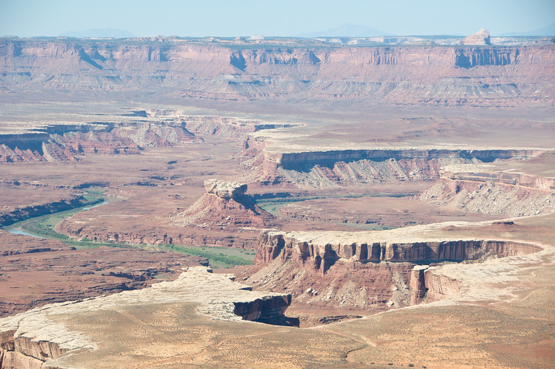 The Green River runs through the canyons.  Guess how it got it's name?