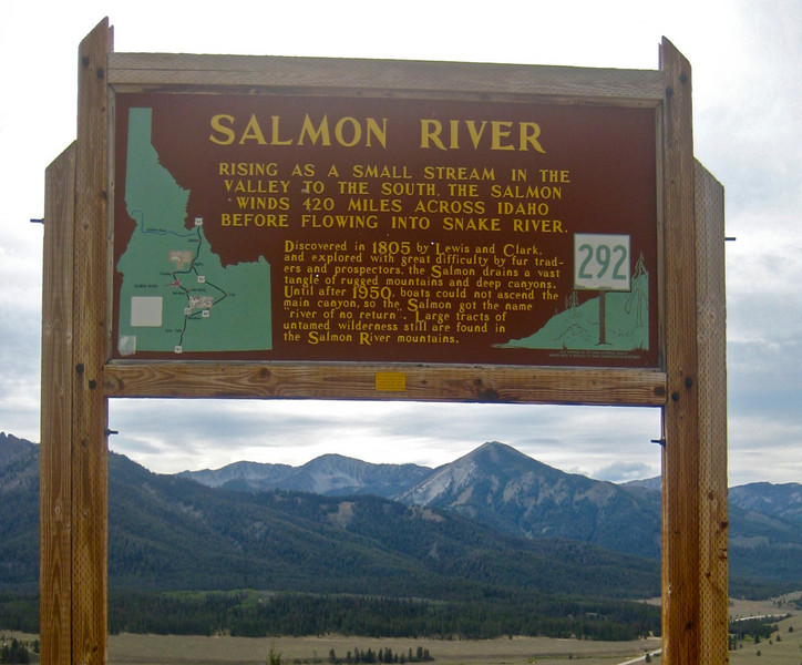 """...until after 1950, boats could not ascend the main canyon, so the Salmon got the name ""river of no return"""""