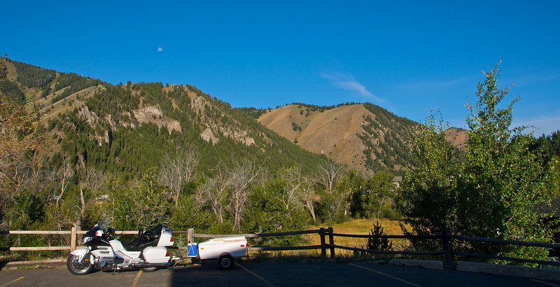 Hotel Parking lot in Ketchum Idaho