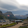 The view north from Logan Pass Visitor Center.  The descent to the other side of the park goes this direction.