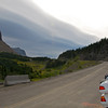 Approaching Logan Pass, the high (altitude) point of the Going-to-the-Sun Highway.  After Logan Pass, the road continues down to the northeastern part of the park, ending very close to the Canadian Border.