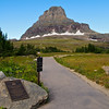 The view west from the Logan Pass Visitor Center