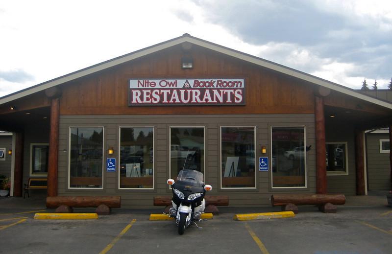 Great restaurant outside Glacier in Columbia Falls Montana