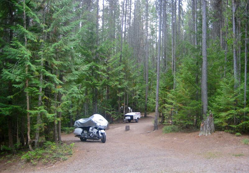 Glacier Park campsite