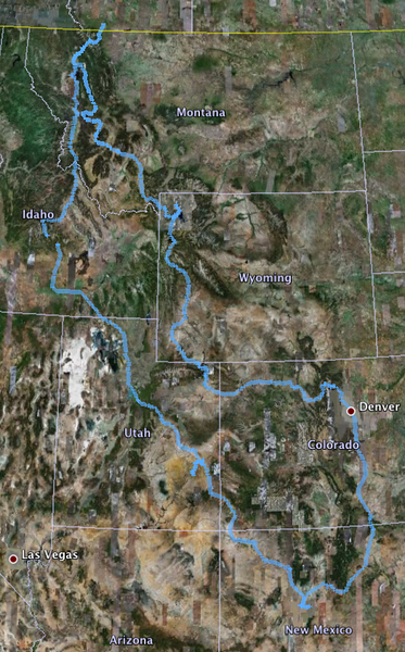 I covered 4029 in 14 days.  This is my actual route - created from the tracks I downloaded from my Zumo 450 GPS - as it appears in Google Earth.